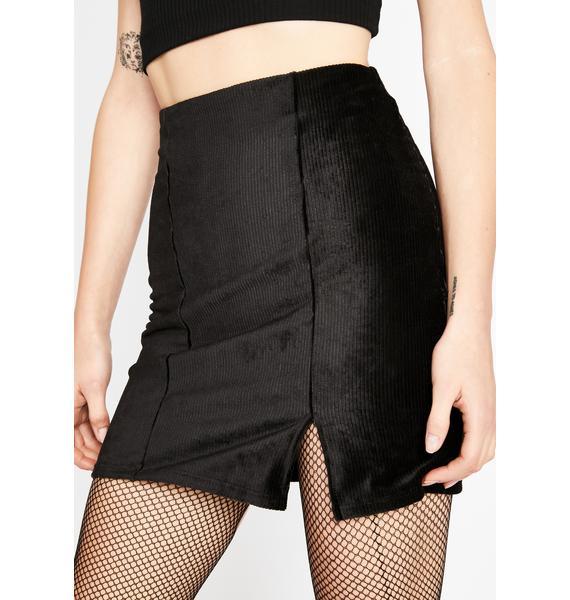 Call You Out Corduroy Skirt
