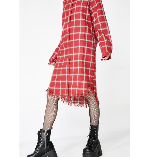 Grunge At Heart Plaid Dress