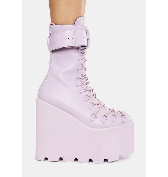 Sugar Thrillz Lavender Traitor Boots