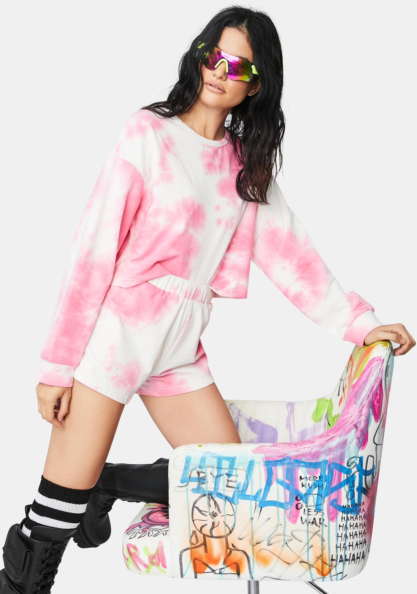 Candy Keep Your Cool Cropped Sweater