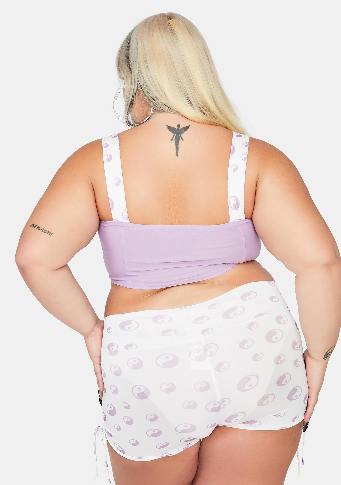 Ivory She's Finding Balance Hot Shorts