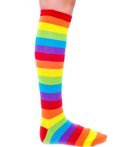 Rainbow Fae Knee High Socks