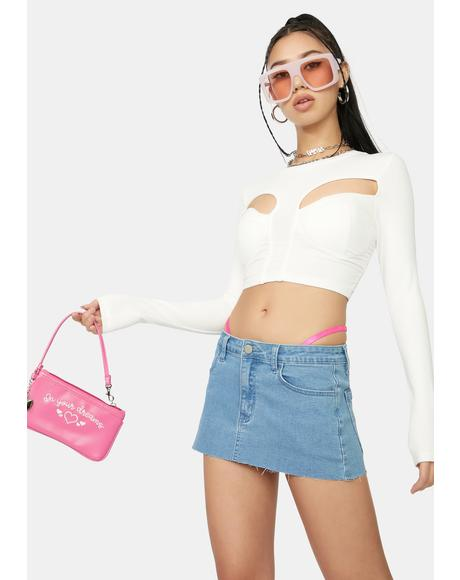 Icy About Last Night Cutout Crop Top