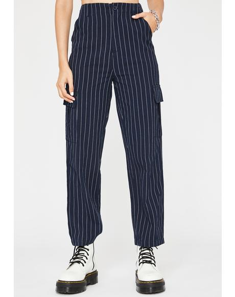 Midnight Mob Life Pinstripe Pants