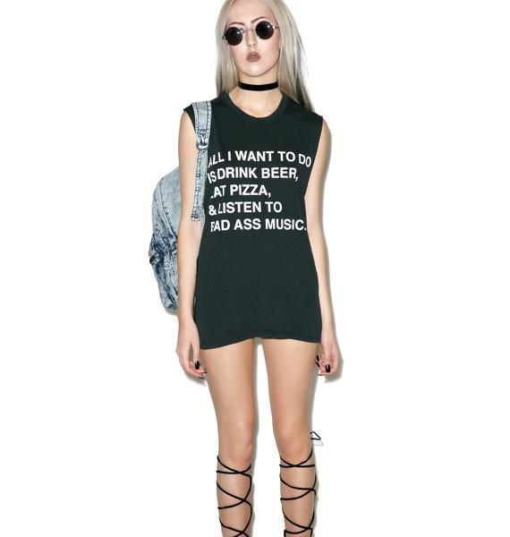 Jac Vanek All I Want Muscle Tee