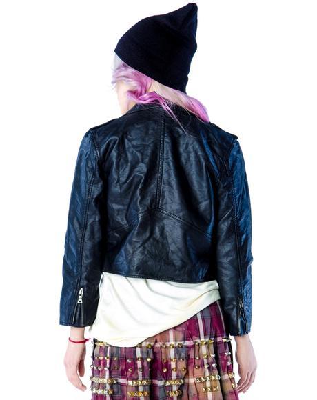 Wrinkle Wash Moto Jacket