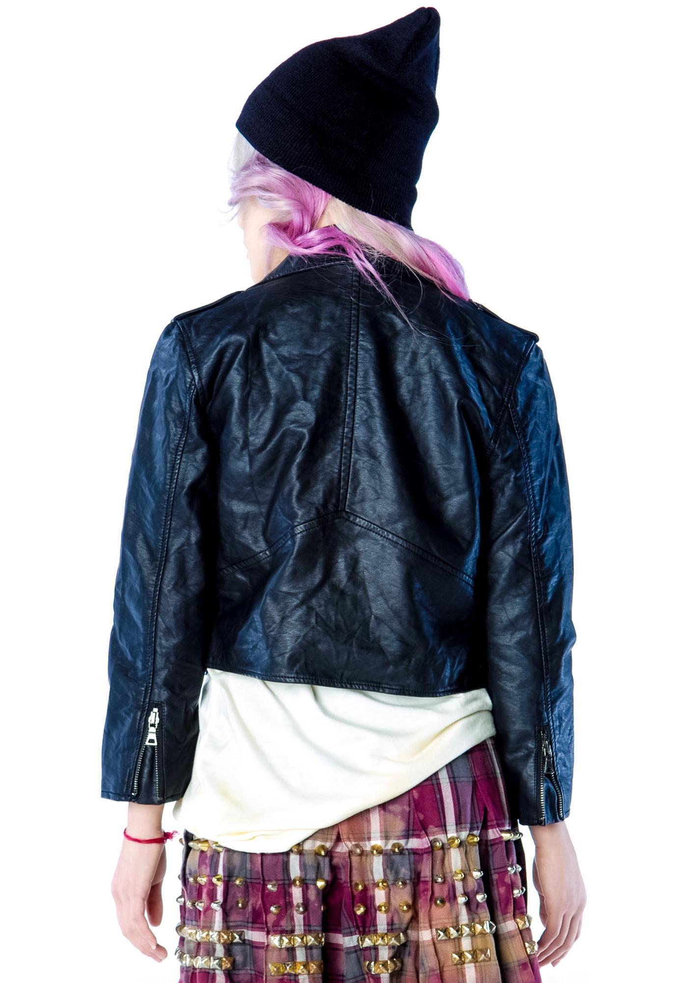 Widow Wrinkle Wash Moto Jacket