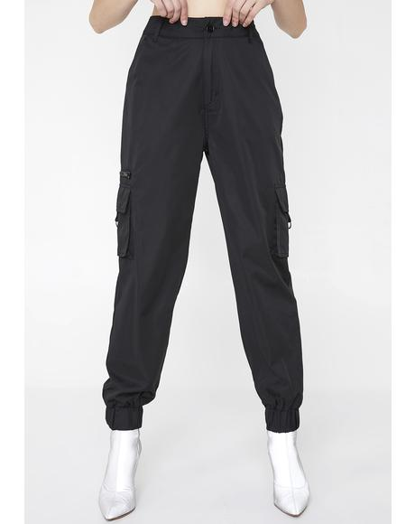 Cropped Cargo Joggers