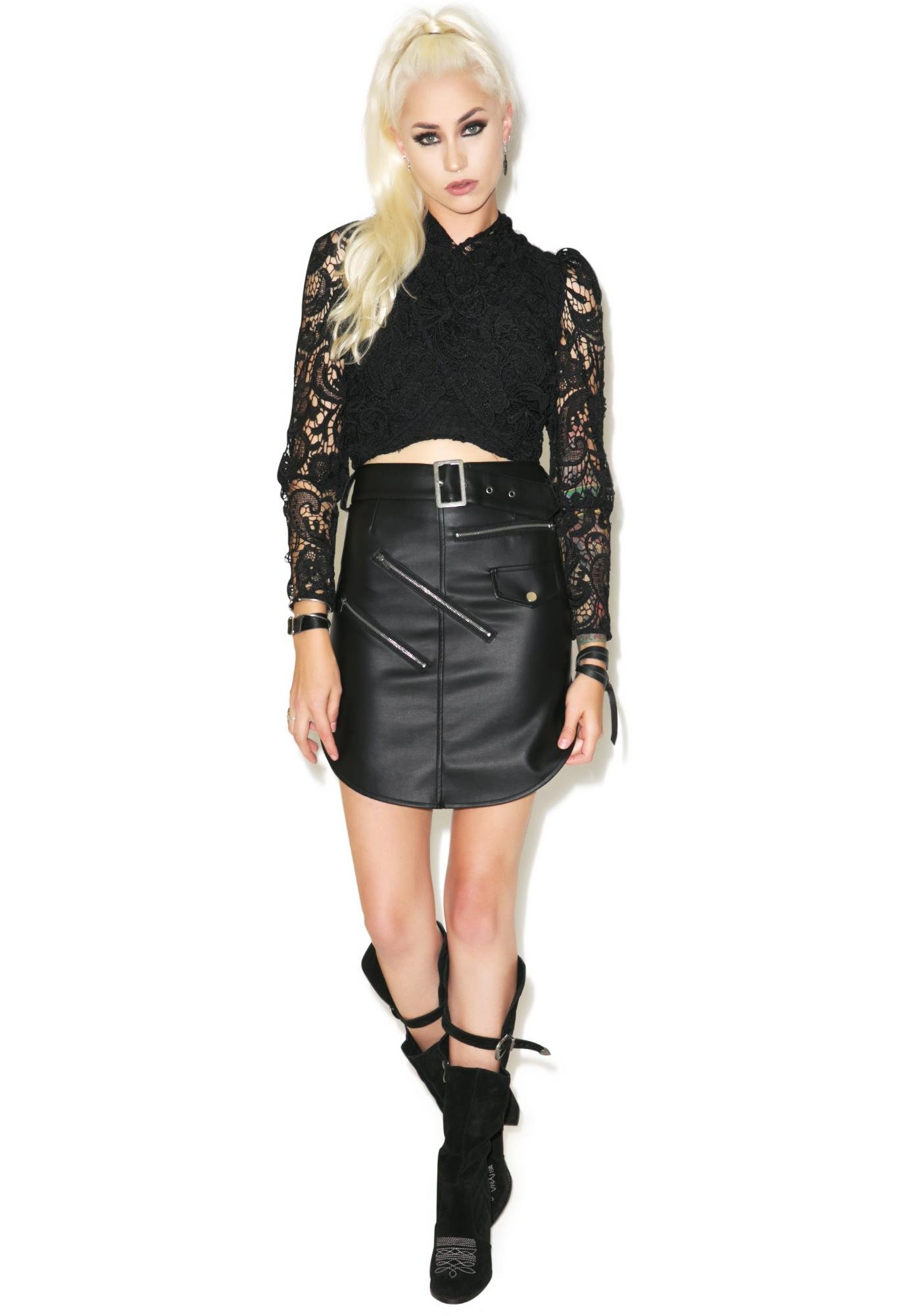 Nightwalker Outlaw Leather Skirt