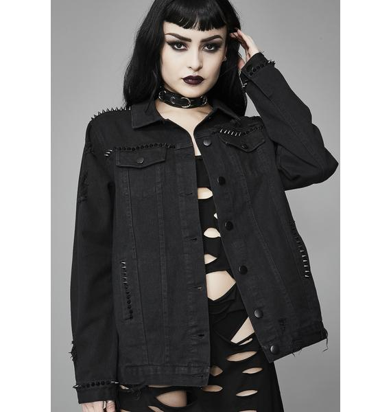 Widow Wicked Worship Denim Jacket