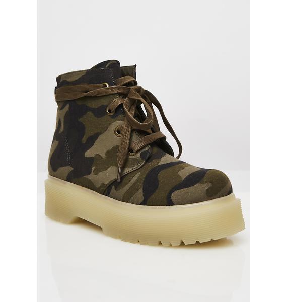 Y.R.U. Slayr Camo Boots