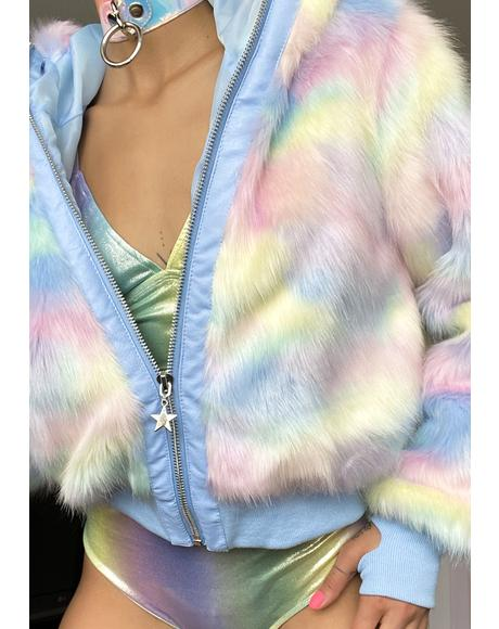 Welcome To Wonderland Faux Fur Jacket