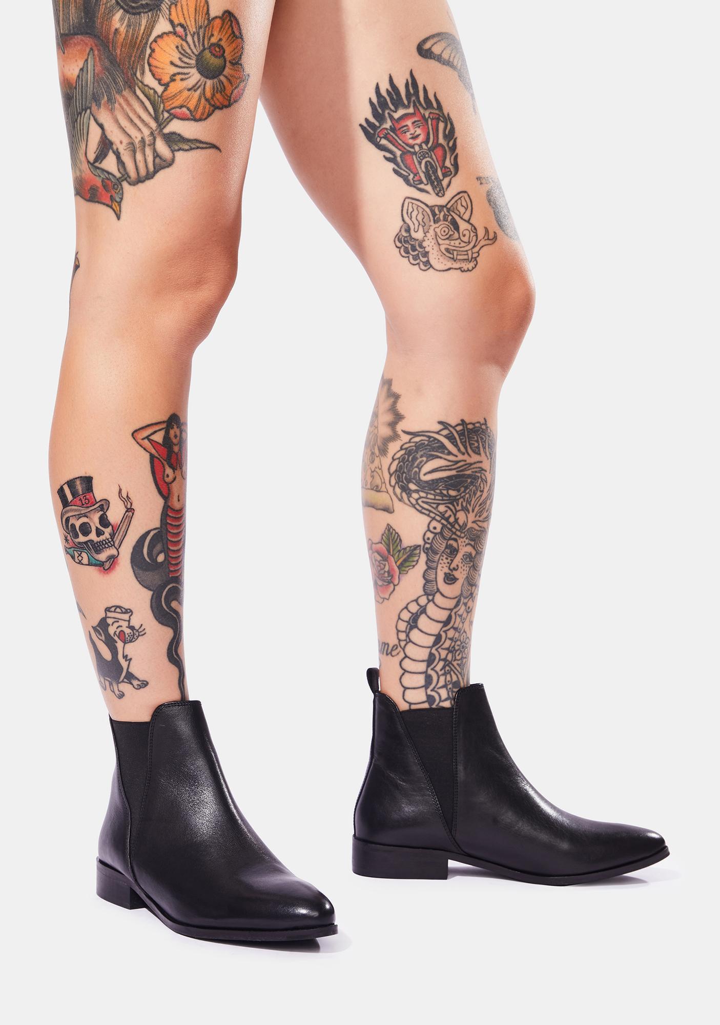 Chelsea Crew Black Label Rollo Ankle Boots