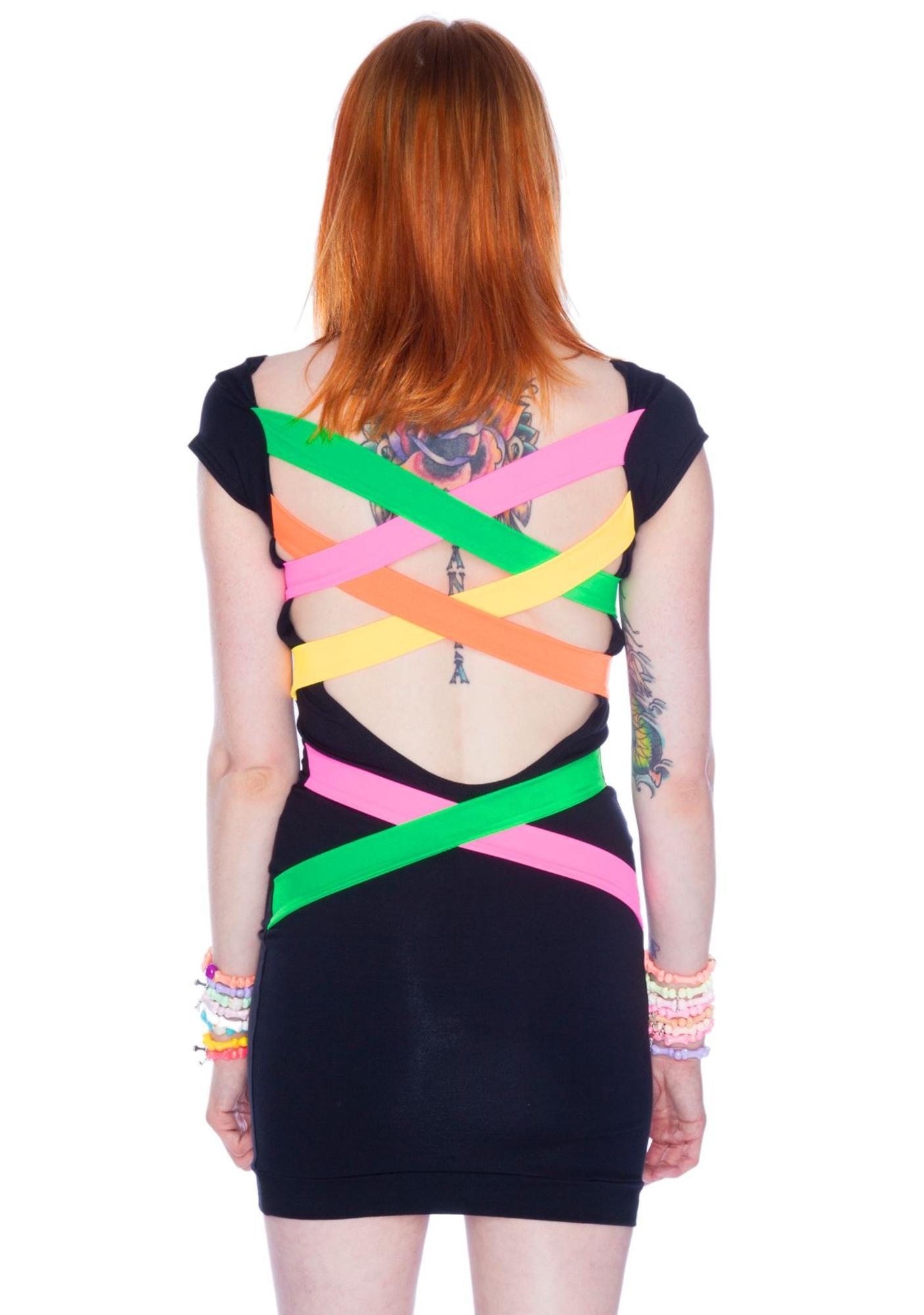 Fruity Strap Back Dress