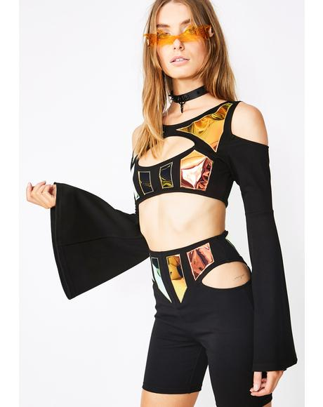 Electro Freakquency Crop Top