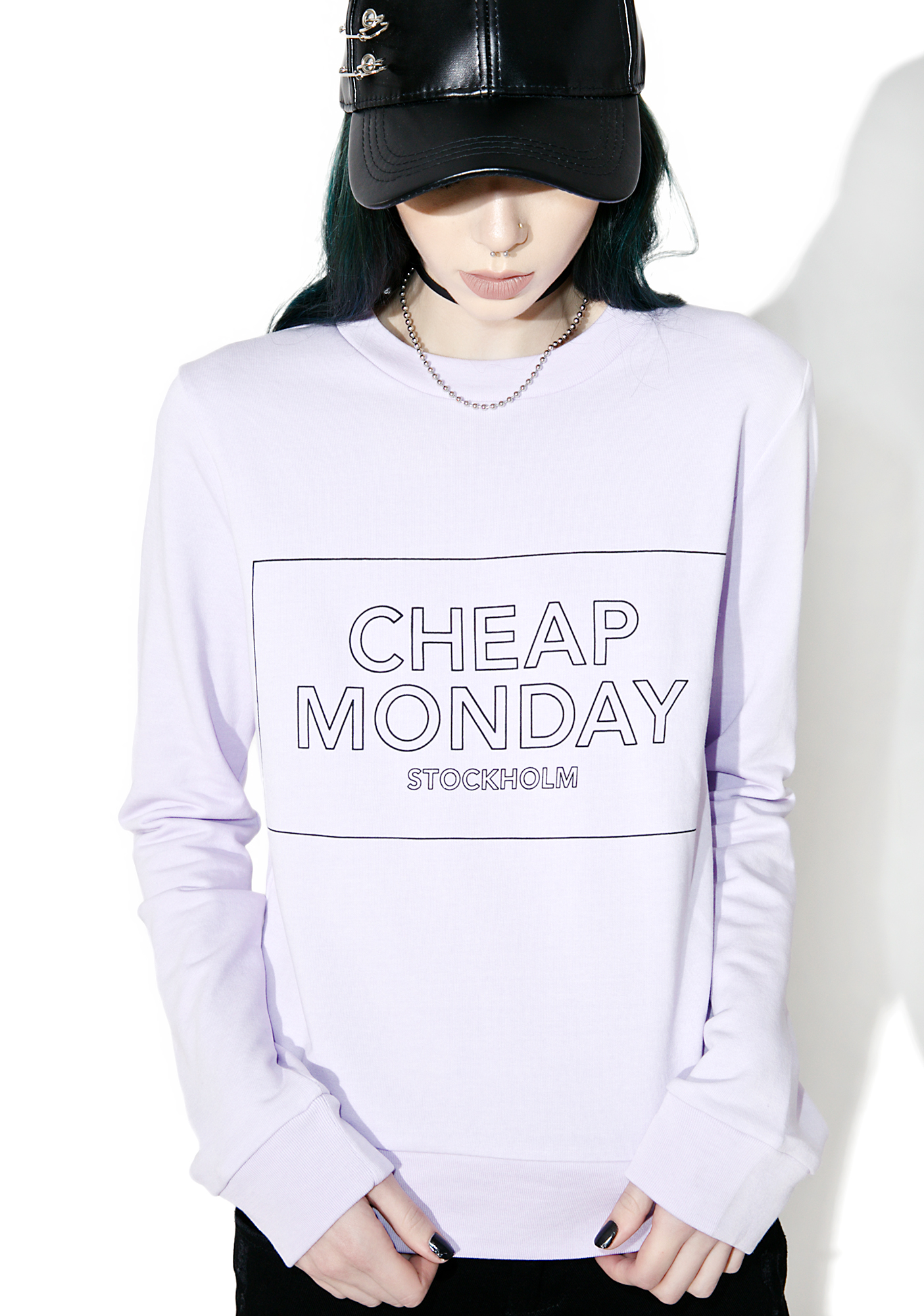 Cheap Monday Win Thin Logo Box Sweat