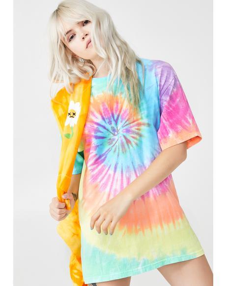 Pastel Spiral Oversized T-Shirt
