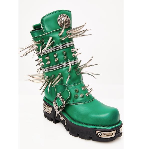 Maria ke Fisherman Emerald Spike Boots