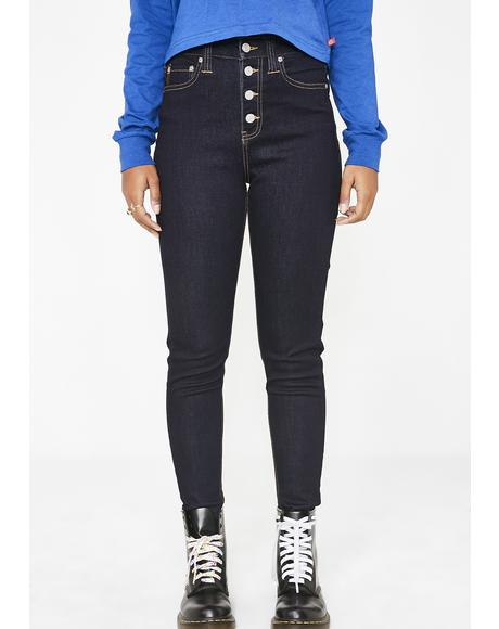 5 Pocket High Rise Skinny Jeans