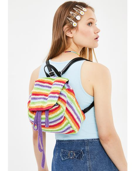 Hipster Mania Crochet Backpack