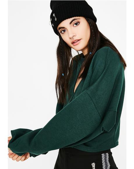 All Good Cropped Sweatshirt