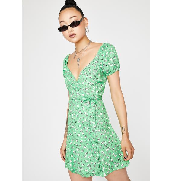 Kelly Floral Wrap Dress