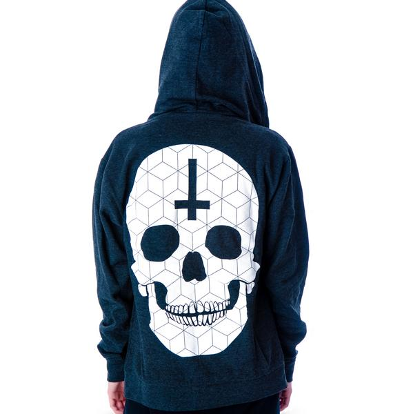 Abandon Ship Apparel Tech Skull Zip Up Hoodie