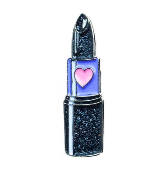 Laser Kitten Spooky Babe Lipstick Pin