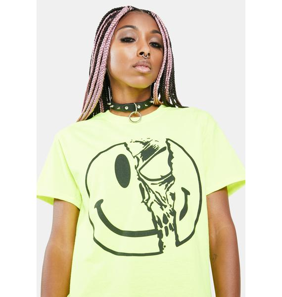 Long Clothing Killer Smiley Graphic Tee