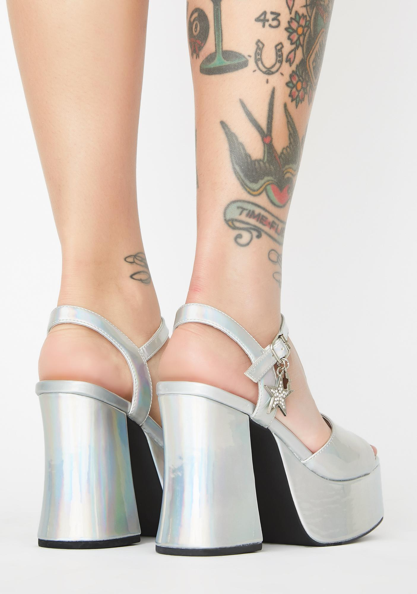 dELiA*s by Dolls Kill Starry Eyed Surprise Platform Heels