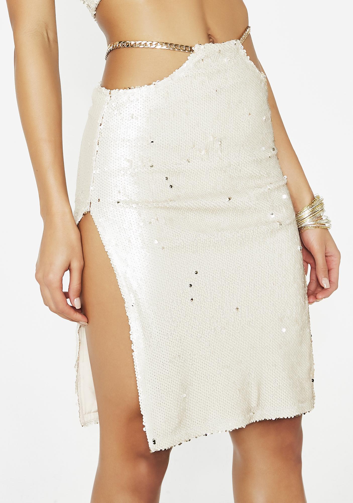 Poster Grl Gold Standard Sequin Skirt
