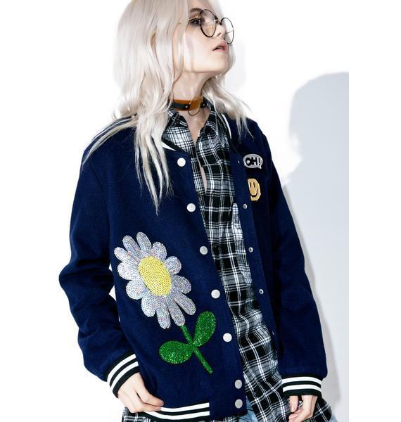 Field Daisy Varsity Jacket