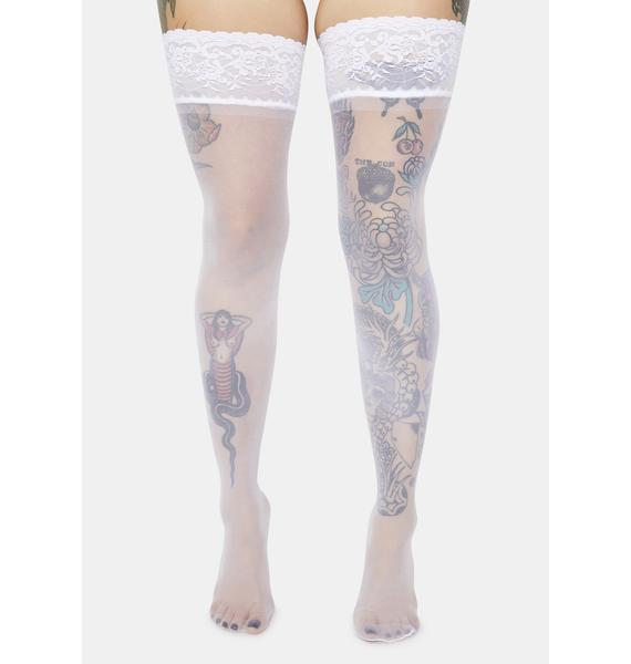 Angel Made For Me Thigh High Lace Tights