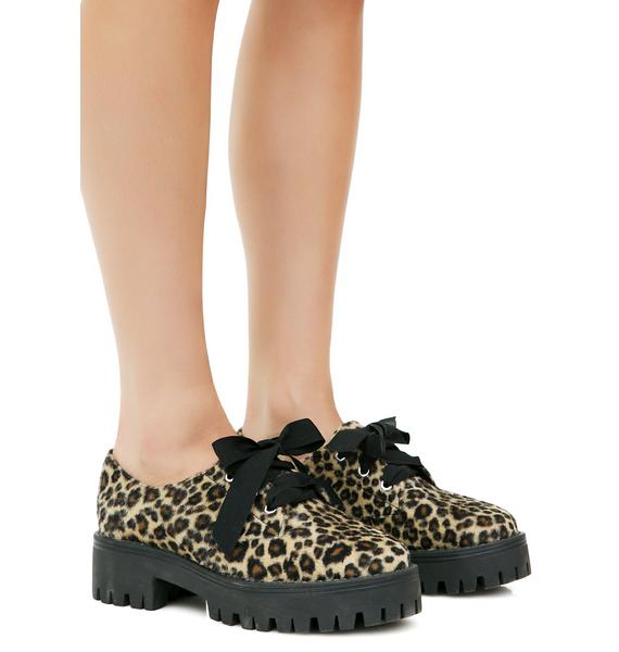 Current Mood Sneak Attack Leopard Oxfords