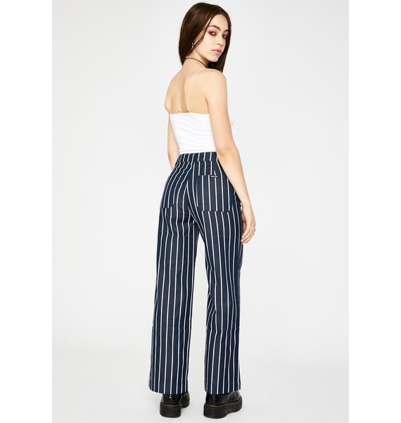 Rollas Old Mate Pinstripe Wide Leg Pants
