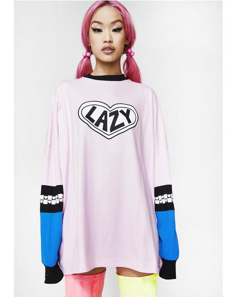 Pink Panel Long Sleeve Tee