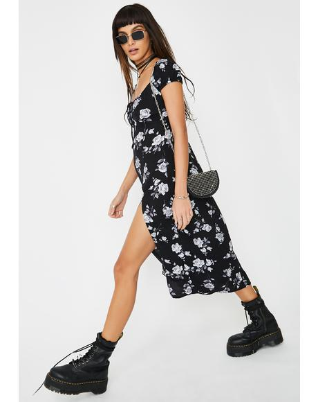 Black Rose Milla Midi Dress