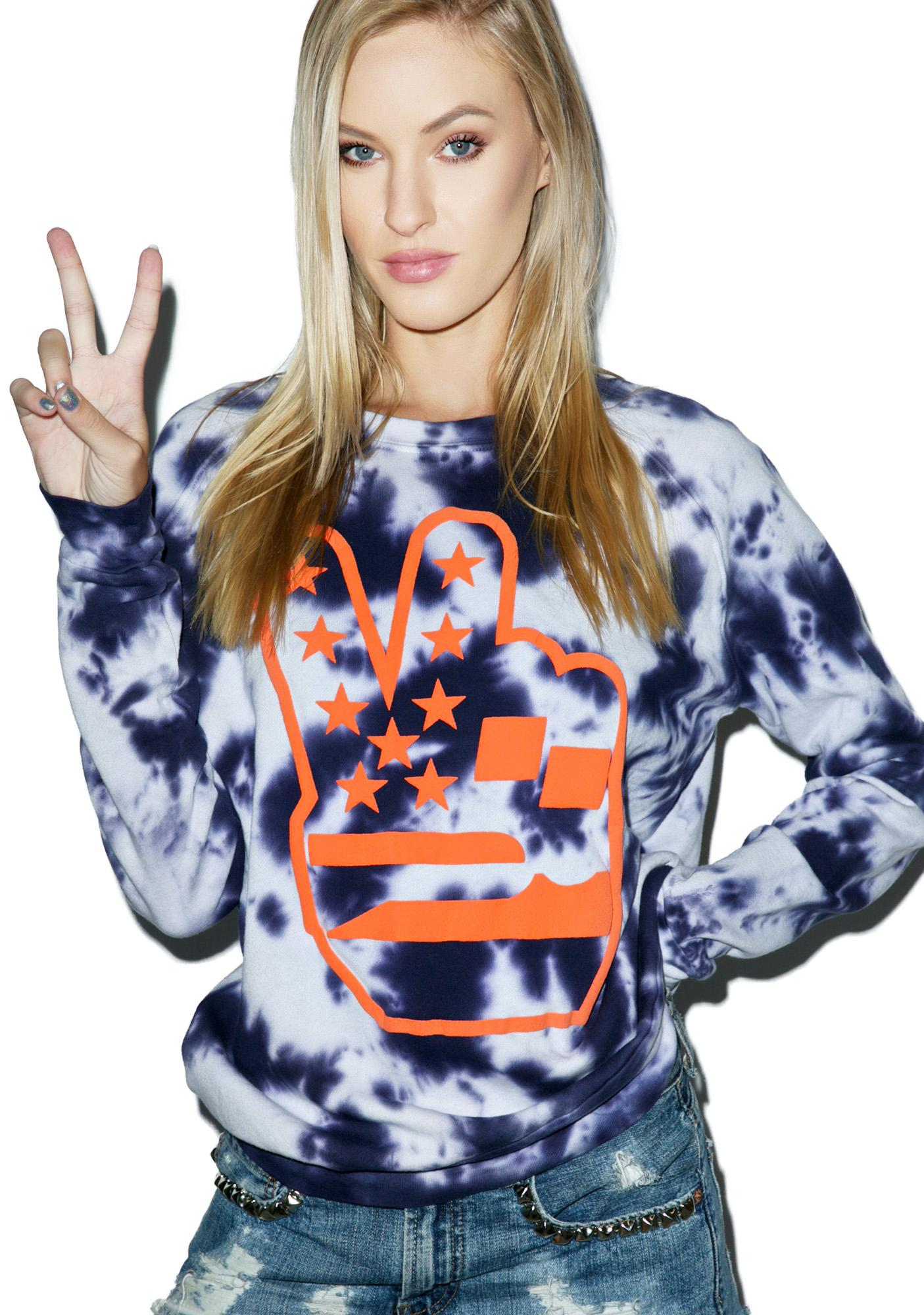 Junk Food Clothing Peace Out Sweatshirt