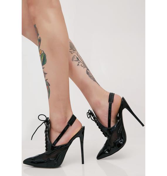 Public Desire Italia Slingback Lace-Up Heels