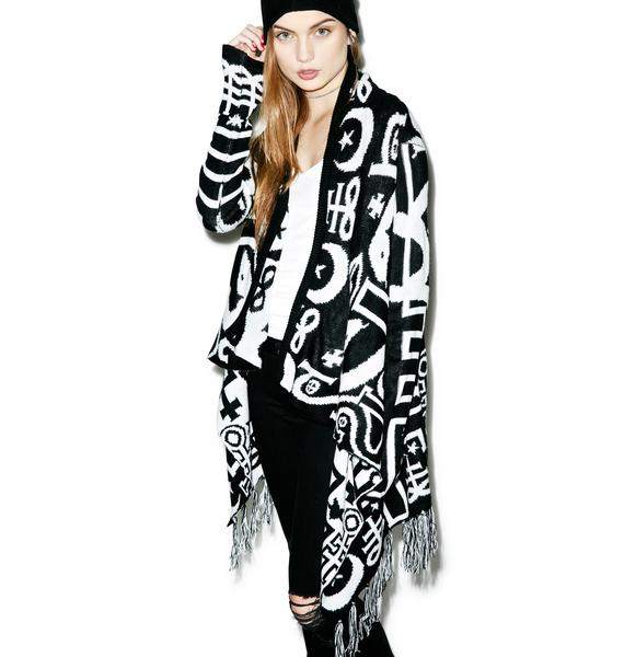 Killstar Spiritus Knit Cape