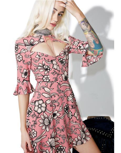 Ayla Lace-Up Dress