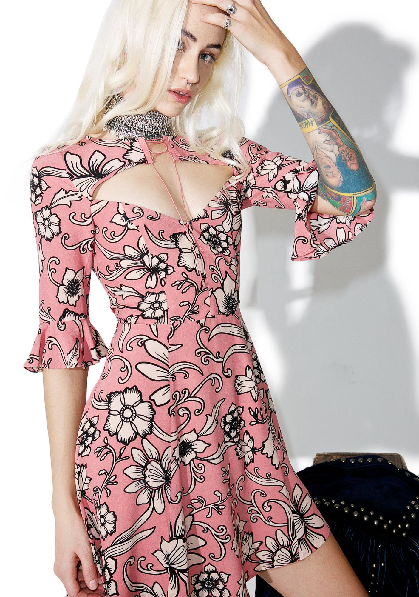 For Love & Lemons Ayla Lace-Up Dress