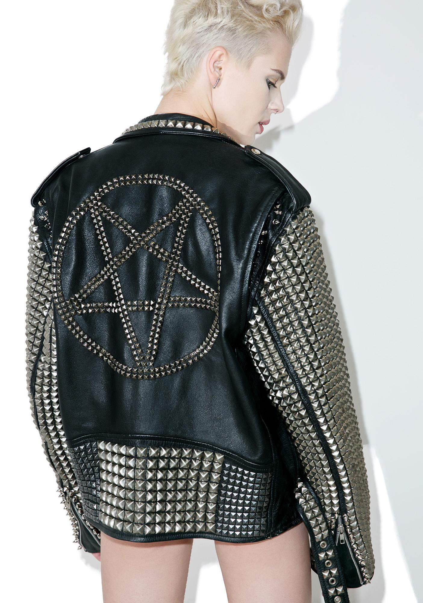 Hazmat Design Vintage Deadstock Pentagram Leather Jacket