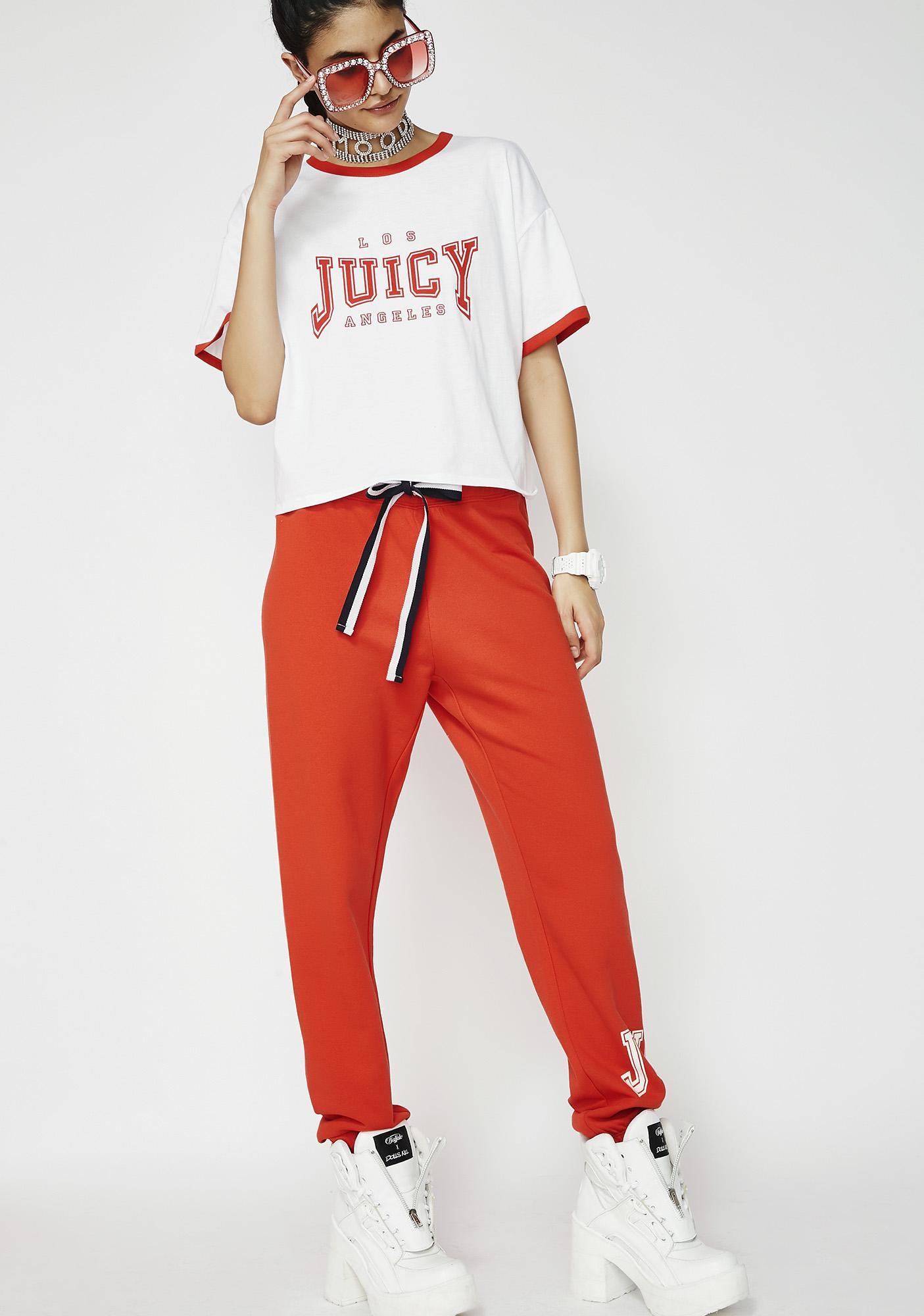 JUICY COUTURE Juicy Mini Logo Terry Pants