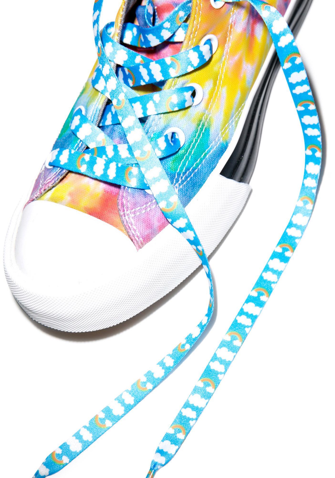 Rainbow Cloudz Shoelaces