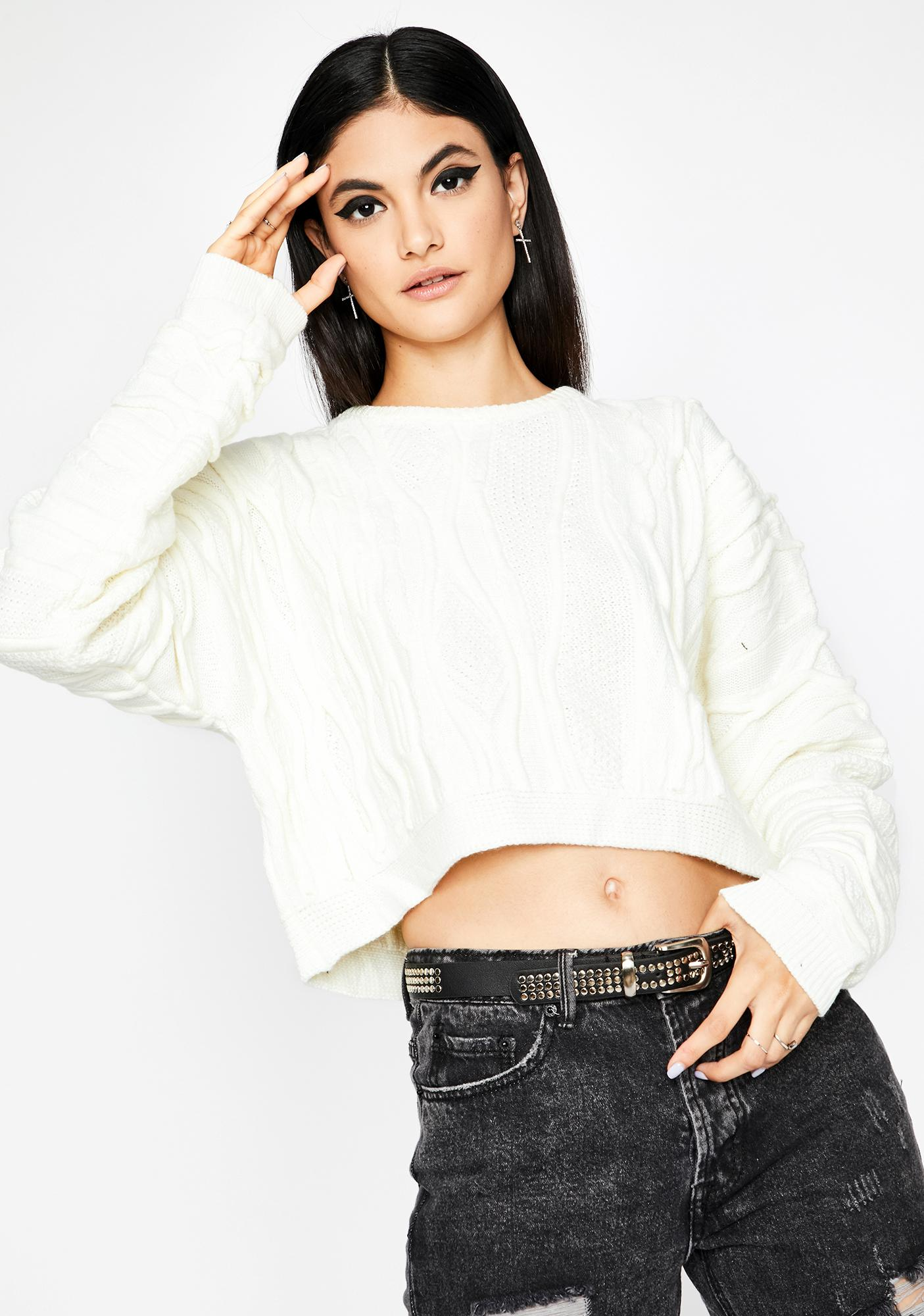 All Chill Crop Sweater