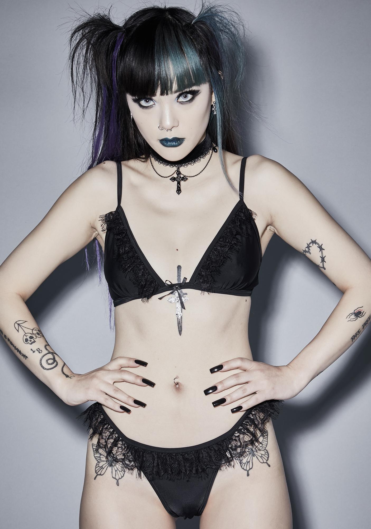 Widow Angel Of Mercy Lace Bikini Set