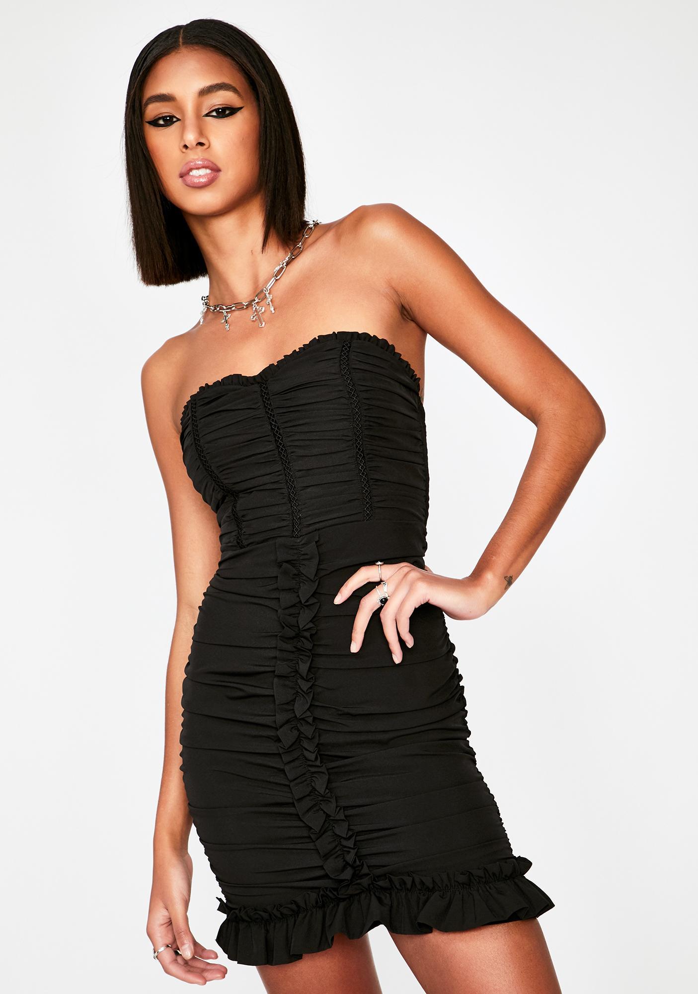 Dark You Don't Even Know Mini Dress