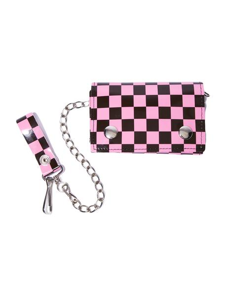 Bubblegum At The Hip Chain Wallet