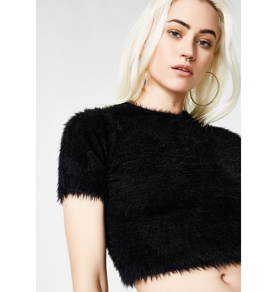 Midnight Fuzz'd Driving Crop Top